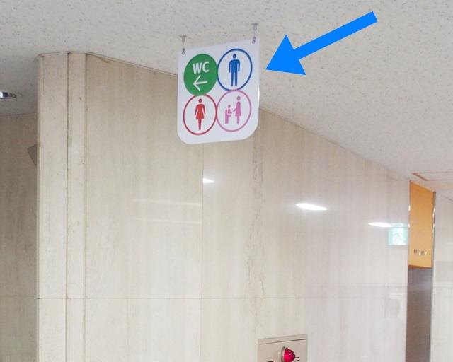 本館1階ロビー 遠くからもわかりやすいサイン