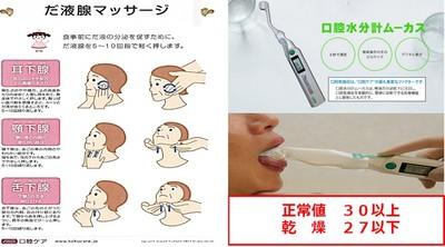 非経口摂取患者に対する唾液腺マッサージの効果